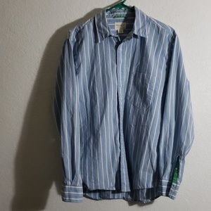 Blue and Green striped 100% cotton shirt